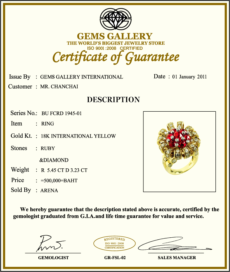 Gems Gallery We also share our knowledge of precious